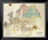 Geological Map of Europe, c.1856 Framed Giclee Print by Sir Roderick Impey Murchison