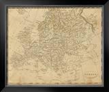 Europe, c.1812 Framed Giclee Print by Aaron Arrowsmith