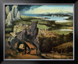 Saint Jerome on the Road Posters by Joachim Patinir