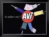 La Couleur c'est l'AVI Framed Giclee Print by Raymond Savignac