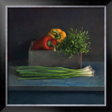 Still Life with Paprika Print by  Van Riswick