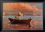 Gloucester Harbor Print by Winslow Homer