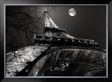 Tour Eiffel, Pleine Lune Art by Antoine Carrara