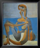 Baigneuse Assise au Bord de la Mer, c.1930 Posters by Pablo Picasso
