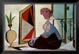 Femme au Miroir, 1937 Art by Pablo Picasso
