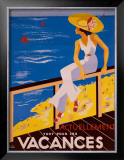 Vacances Framed Giclee Print by H&#233;lu 