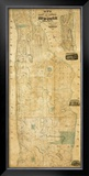 City and County of New York North of 50th St., c.1851 Framed Giclee Print by Matthew Dripps