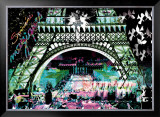 Paris by Night Poster by  Kaly