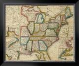 United States, c.1833 Framed Giclee Print by David H. Burr