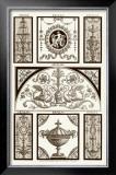 Sepia Pergolesi Panel III Posters by Michel Pergolesi