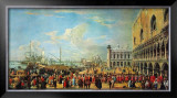 In Front of the Doge Palace in Venice Prints by Luca Carlevaris