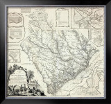 Map of the Province of South Carolina, c.1773 Framed Giclee Print by James Cook