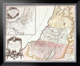 Land of Canaan, c.1750 Prints by Robert De Vaugondy