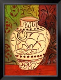 Lotus Pot I Art by Joyce Lieberman