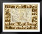 Carta Etnografica, c.1885 Framed Giclee Print by Antonio Garcia Cubas