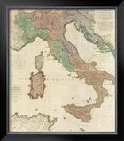 Composite: Italy, c.1800 Framed Giclee Print by Louis Stanislas D'arcy De La Rochette