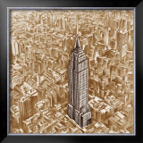 Empire State Building Prints by E. Moroder