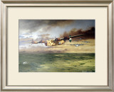 WWII, AAF B-24D Consolidated Bomber Framed Giclee Print by Paul Wollman