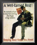 A Well-Earned Rest, 1930 Prints by Robert Beebe
