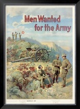 Men Wanted for the Army Framed Giclee Print by Michael Whelan