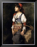 Country Girl Prints by Alexei Alexeivich Harlamoff