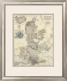 Denmark, Hanover, Brunswick, Mecklenburg, Oldenburg, c.1861 Framed Giclee Print by Alexander Keith Johnston