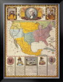 Ornamental Map of the United States and Mexico Prints by Humphrey Phelps