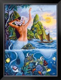 Wahine from the Sea Framed Giclee Print by Warren Rapozo