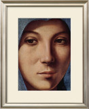 Gesicht der Maria Portrait Poster by  Antonello da Messina