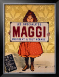 Maggi Framed Giclee Print by Firmin Etienne Bouisset