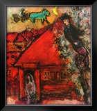 The Red House Posters by Marc Chagall