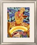 Hawaii Wahine Hula Luai Puai Poster Framed Giclee Print