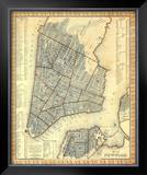 City of New York, c.1846 Framed Giclee Print by Samuel Augustus Mitchell
