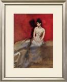 Portrat der Frau des Kunstlers Posters by Albert Keller