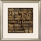 Paris Posters by Luke Wilson