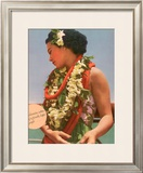 Hawaiian Charming Customs Framed Giclee Print
