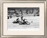 Indoor Short Track Roberts Eklund Framed Giclee Print by Jerry Smith