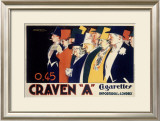 Craven A Cigarettes Framed Giclee Print by Achille Luciano Mauzan