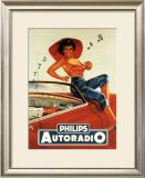 Philips Autoradio Framed Giclee Print