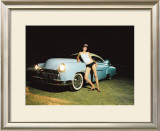Pin-Up Girl: Chop Top Street Rod Framed Giclee Print by David Perry