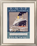 RMSP to South America Framed Giclee Print by Kenneth Shoesmith