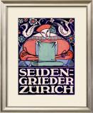 Seiden-Grieder, Zurich Framed Giclee Print by Otto Baumberger
