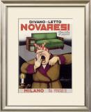 Novaresi, Italian Sofa Furniture Framed Giclee Print by Achille Luciano Mauzan
