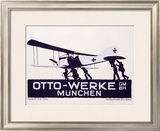 Otto-Werke, Munich Framed Giclee Print by Ludwig Hohlwein