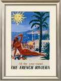 The French Riviera Framed Giclee Print by Hervé Baille