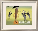 Marie Claire Framed Giclee Print by Pierre Fix-Masseau