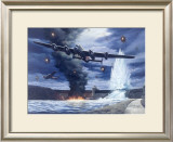 Lanaster Dam Buster Bomber Aviation Framed Giclee Print by Carlos Garcia
