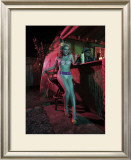 Tiki Bar Pin-Up Girl Framed Giclee Print by David Perry