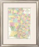 Map of Mississippi, Louisiana and Arkansas, c.1839 Framed Giclee Print by David H. Burr