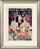 La Cigale Framed Giclee Print by Jules-Alexandre Grün